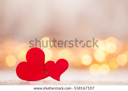 Valentines day greeting card. Red heart on the gray background.