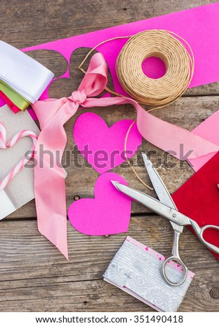 Free Photos Valentines Day Handicrafts Made Of Paper Wood