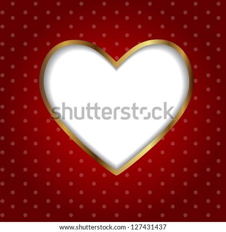 Valentines day heart backgroung,  Raster version  illustration