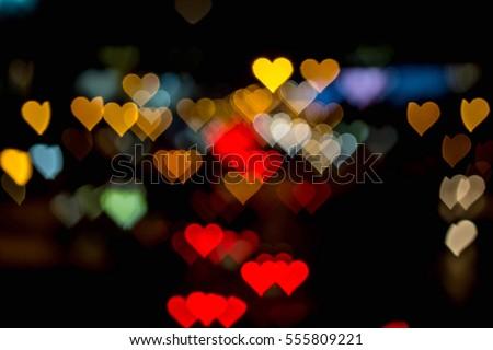 Valentines Day Love Bokeh  #555809221