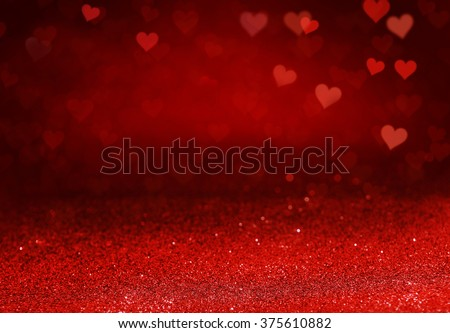 Valentines day, paper glitter and Hearts background. design for background, copy space.