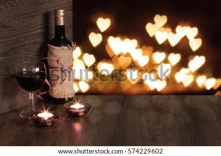 valentines day Romantic Dinner background
