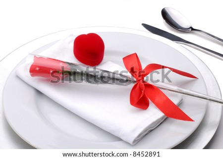 Valentines Day Table Setting Theme For A Romantic Dinner With A ...