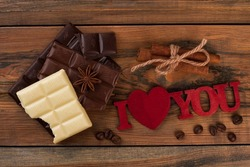 Valentines holiday background with sweets.