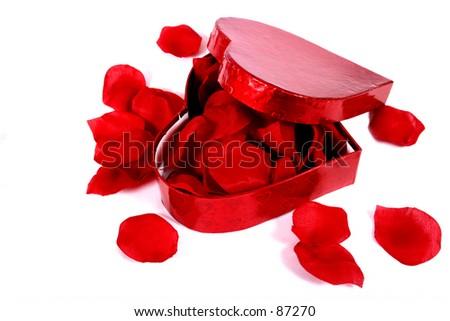 Valentines Roses in Box - stock photo