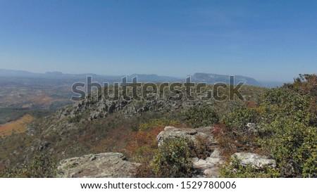 Vales de Minas Gerais. Landscape in Minas Gerais, Brazil. Beautiful valleys.
