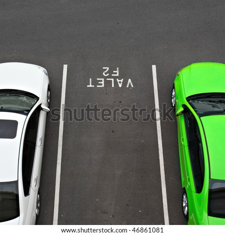 Valet car parking space at airport