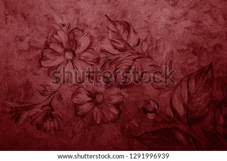 Valiant Poppy texture decorative Venetian stucco for backgrounds #1291996939
