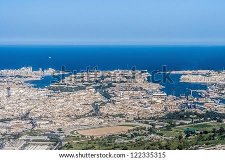 Valletta Citta Umilissima in Malta as seen from the air