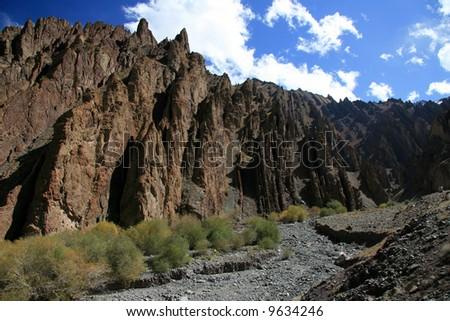 Valley and Mountains - Himalayas, Mountain Climb- Stok Kangri (6,150m / 20,080ft), India