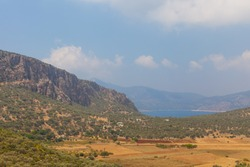 Valley in the mountains by the sea, Mugla province, Turkey