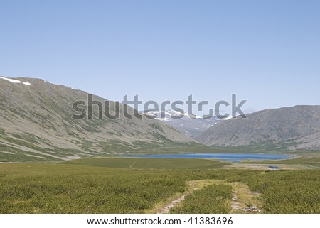Valley in the Ural mountains