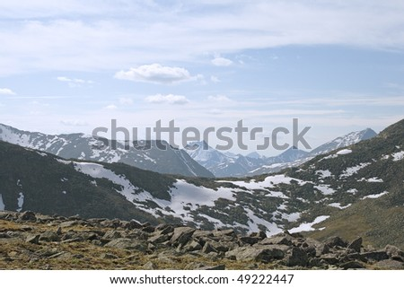 Valley  in the Ural mountains, northern Russia