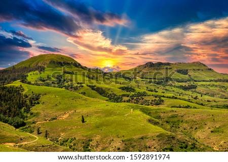 valley of a thousand hills in zulu land kwazulu natal Stock photo ©
