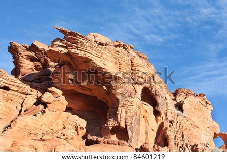 Valley of Fire State Park is the oldest state park in Nevada, USA. It covers an area of 34,880 acres (14,120 ha) and was dedicated in 1935. It derives its name from red sandstone formations