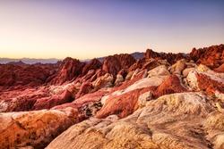 Valley of Fire State Park Landscape near Las Vegas, Nevada, USA