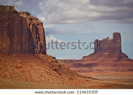 Valley of Monuments in Summer. Monuments Valley Navajo Tribal Park, Arizona, USA. Nature Photo Collection.
