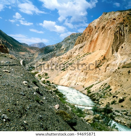 Valley of the Fann Mountains (also known as the Fanns) are part of the western Pamir-Alay mountain system and are located in Tajikistan.