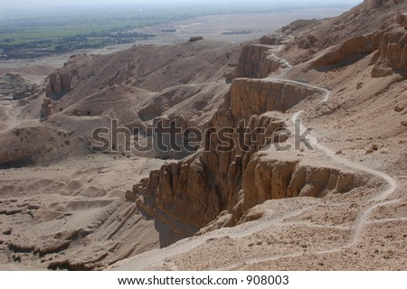 Valley of the Kings near Luxor (Thebes), Egypt, where the tomb of Tutankhamun were found