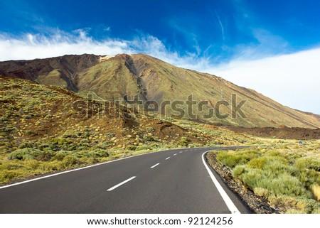 valley of volcano Teide, Tenerife, Spain