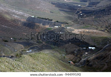 Valley on Lanzarote island