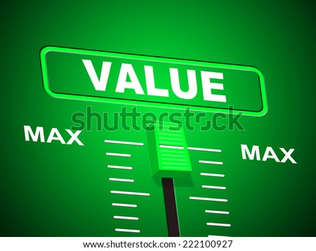 Value Max Representing Upper Limit And Peak