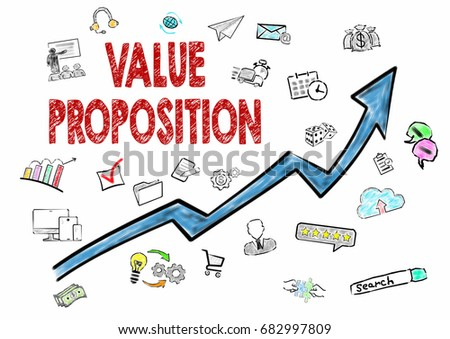 Value Proposition, Business Concept. Icons on white background