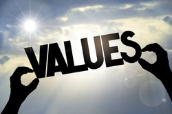Values concept, hands