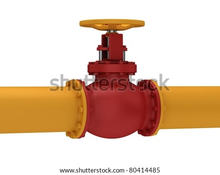 Valve for pumping oil  isolated on a white background.
