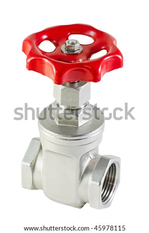 valve is isolated on a white background
