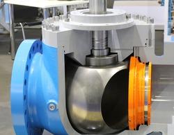 Valves regulating and locking regulating. Gate valves. Ball valves. Ball valves in the cut. Oil and gas industry.