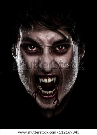 vampire halloween man. portrait ...