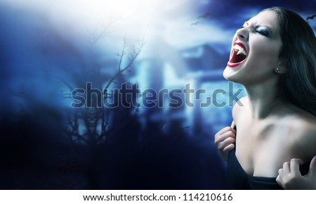 Vampire Woman. Halloween Art Design