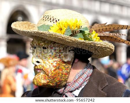 van Gogh mask on the carnivale in Venice
