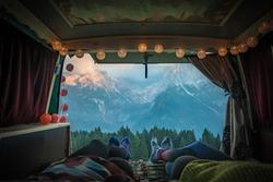 Van Life in Mountains Dolomiti di Brenta, Italy