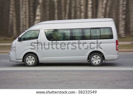 Van on road - stock photo