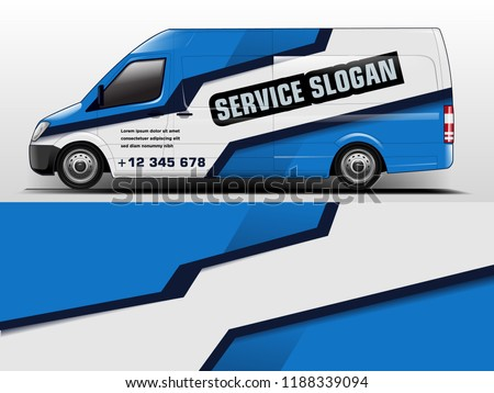 Van Wrap design for company, decal, wrap, and sticker. vector eps10 - Shutterstock ID 1188339094