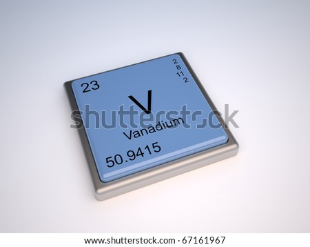 Vanadium chemical element of the periodic table with symbol V