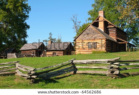 Vance Birthplace State Historic Site, historic frontier home buildings