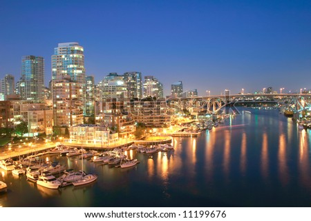 Vancouver, British Columbia Skyline