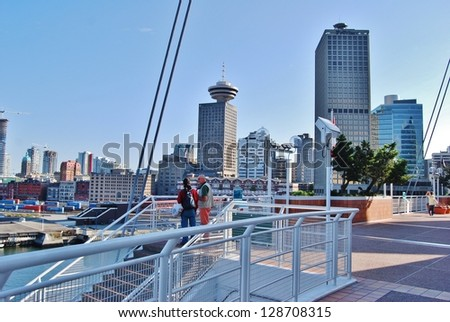 VANCOUVER, CA - JULY 05: Canada Place Harbor on July 05, 2008 in Vancouver, Canada. Famous Vancouver main cruise ship terminal, it was built in 1927.