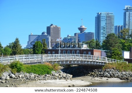 VANCOUVER, CA - JULY 27: Canada Place Harbor on July 27, 2014 in Vancouver, Canada. Famous Vancouver main cruise ship terminal, it was built in 1927.