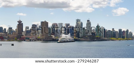 Vancouver, Canada - April 25: City Vancouver on April 25, 2015  in Vancouver, Canada.