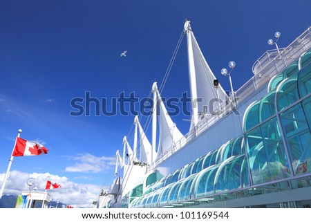 VANCOUVER, CANADA - AUGUST 16: Canada Place, home of the Vancouver Trade and Convention Center, August 16, 2011. This venue was the exhibition center for the 2010 Winter Olympics