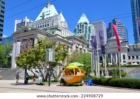 VANCOUVER, CANADA - JULY 27:  Vancouver Art Gallery on July 27 , 2014 in Vancouver, Canada. Gallery is 5th largest art gallery in Canada and largest in Western Canada.