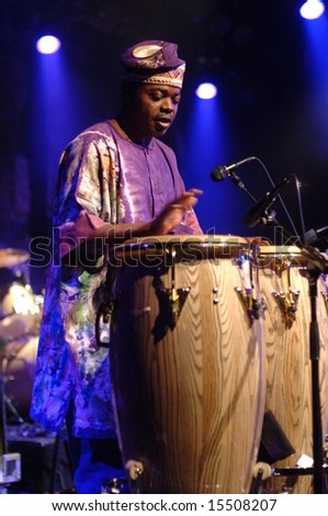 "Vancouver, Canada, 24 June 2008: ""Toby Foyeh and Orchestra Africa"" perform in Vancouver, Canada"