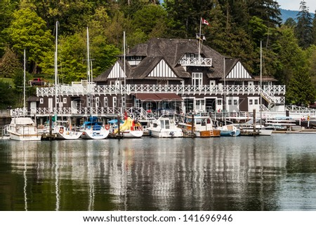 VANCOUVER, CANADA - MAY 12: Historic Vancouver Rowing Club in Stanley Park in Coal Harbor on May 12, 2007 in Vancouver, Canada. The park opened in 1888 and is 10% larger than New York's Central Park.