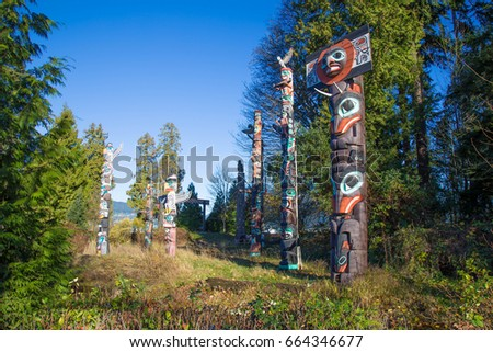 Vancouver City - First Nation Totems - Canada #664346677