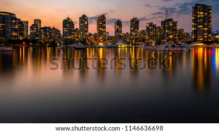 Vancouver Cityscape at Night #1146636698