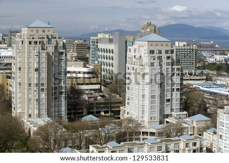 Vancouver - hospital buildings and residential apartments